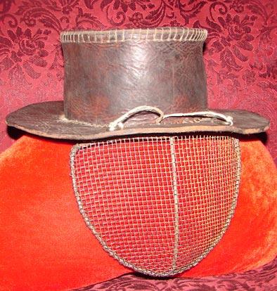 Шляпа кожаная д/лучников.  Технологии:построение выкройки, пошив...